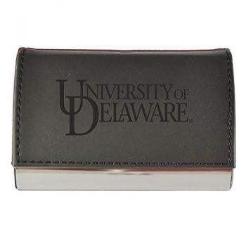 Velour Business Cardholder-University of Delaware-Black