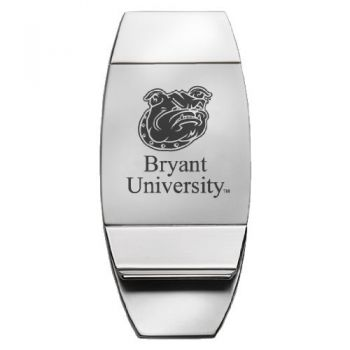 Bryant University - Two-Toned Money Clip - Silver