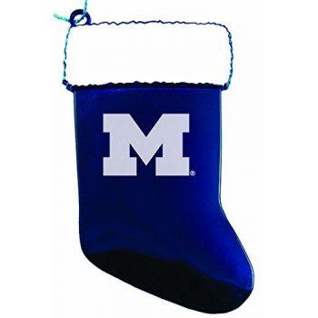 University of Michigan - Christmas Holiday Stocking Ornament - Blue