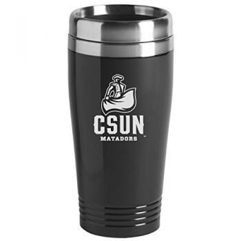 California State University, Northridge - 16-ounce Travel Mug Tumbler - Black