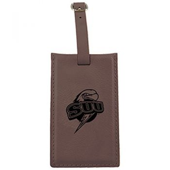 Southern Utah University -Leatherette Luggage Tag-Brown