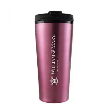 College of William & Mary-16 oz. Travel Mug Tumbler-Pink