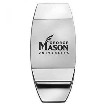George Mason University - Two-Toned Money Clip - Silver