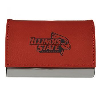 Velour Business Cardholder-Illinois State University-RED