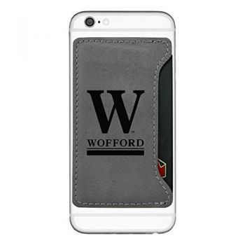 Wofford College-Cell Phone Card Holder-Grey