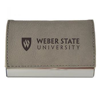 Velour Business Cardholder-Weber State University-Grey