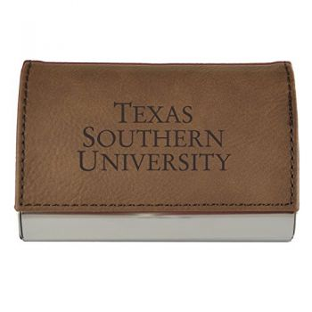 Velour Business Cardholder-Texas Southern University-Brown