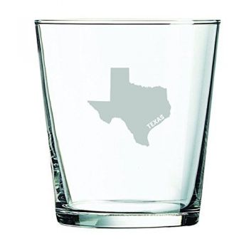 13 oz Cocktail Glass - Texas State Outline - Texas State Outline