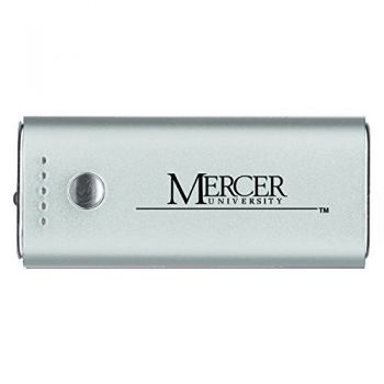 Mercer University -Portable Cell Phone 5200 mAh Power Bank Charger -Silver