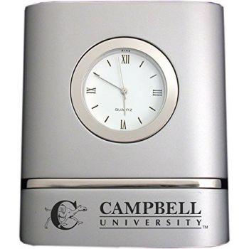 Campbell University- Two-Toned Desk Clock -Silver