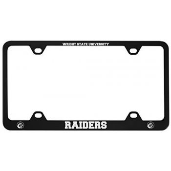 Wright State university -Metal License Plate Frame-Black