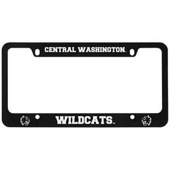 Central Washington University -Metal License Plate Frame-Black