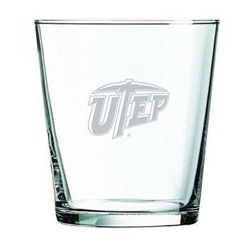 The University of Texas at El Paso -13 oz. Rocks Glass