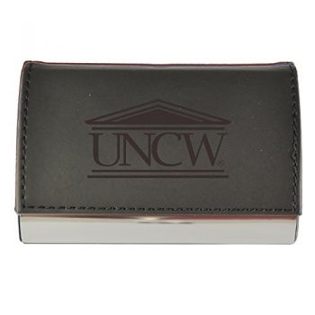 Velour Business Cardholder-University of North Carolina Wilmington-Black