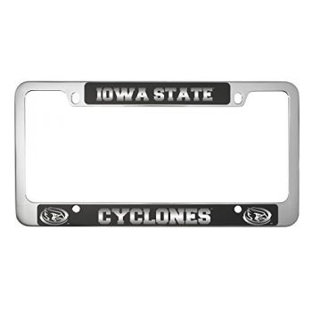 Iowa State University -Metal License Plate Frame-Black