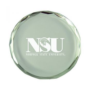 Norfolk State University-Crystal Paper Weight