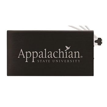 8000 mAh Portable Cell Phone Charger-Appalachian State University -Black
