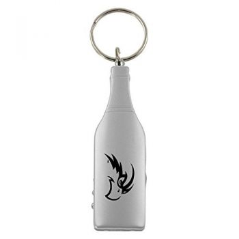 University of North Florida-Wine Shaped Bottle Opener-Silver