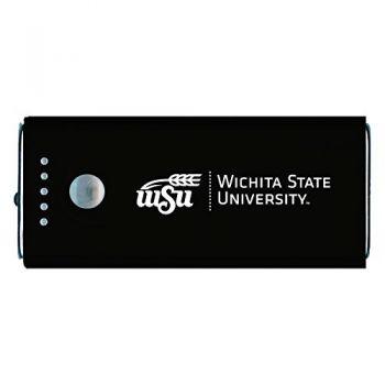 Wichita State University -Portable Cell Phone 5200 mAh Power Bank Charger -Black