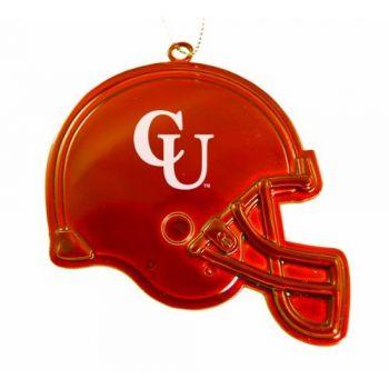 Campbell University - Christmas Holiday Football Helmet Ornament - Orange