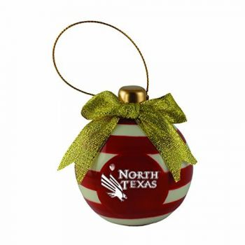 University of North Texas-Christmas Bulb Ornament