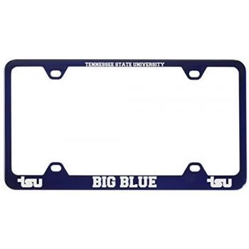 Tennessee State University -Metal License Plate Frame-Blue