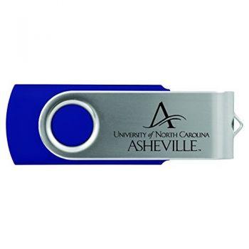 University of North Carolina at Asheville-8GB 2.0 USB Flash Drive-Blue