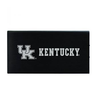 8000 mAh Portable Cell Phone Charger-University of Kentucky -Black