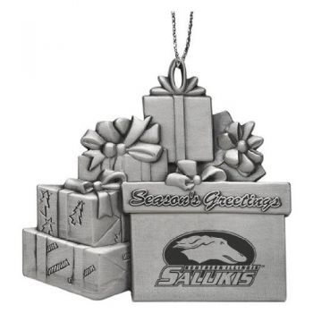 Southern Illinois University - Pewter Gift Package Ornament