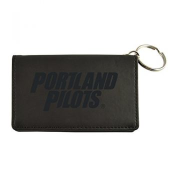 Velour ID Holder-The University of Portland-Black