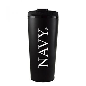 United States Naval Academy -16 oz. Travel Mug Tumbler-Black