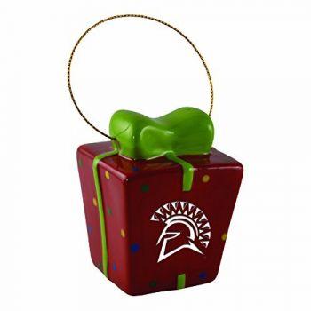 San Jose State University-3D Ceramic Gift Box Ornament