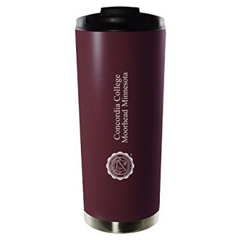 Concordia College-16oz. Stainless Steel Vacuum Insulated Travel Mug Tumbler-Burgundy