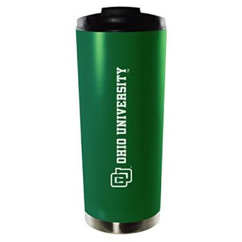 Ohio University-16oz. Stainless Steel Vacuum Insulated Travel Mug Tumbler-Green
