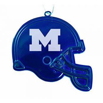 University of Michigan - Christmas Holiday Football Helmet Ornament - Blue