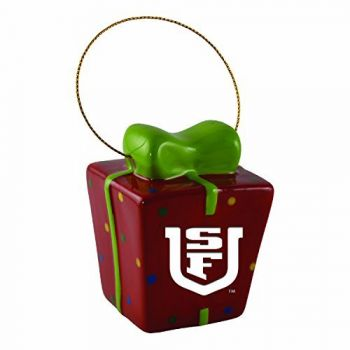 University of San Francisco-3D Ceramic Gift Box Ornament