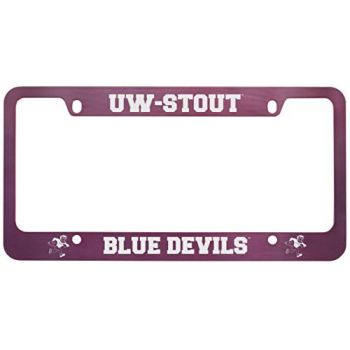 University of Wisconsin-Stout-Metal License Plate Frame-Pink