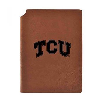 Texas Christian University Velour Journal with Pen Holder|Carbon Etched|Officially Licensed Collegiate Journal|