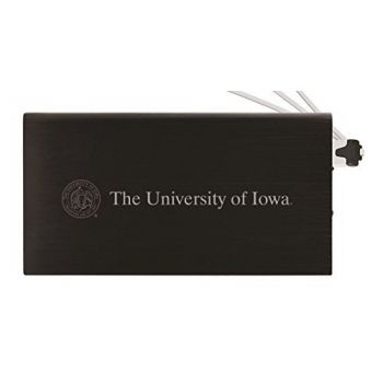 8000 mAh Portable Cell Phone Charger-University of Iowa-Black