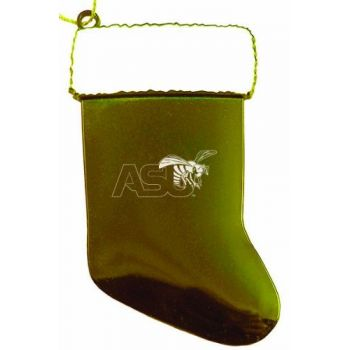 Alabama State University - Christmas Holiday Stocking Ornament - Gold