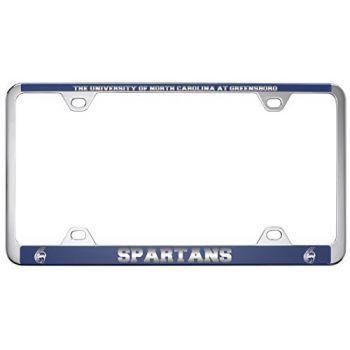 University of North Carolina at Greensboro-Metal License Plate Frame-Blue