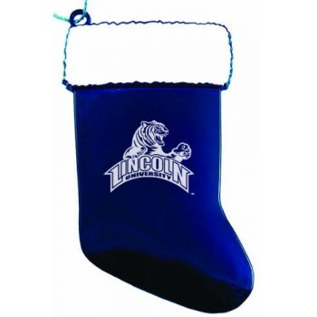 Lincoln University of Missouri - Christmas Holiday Stocking Ornament - Blue