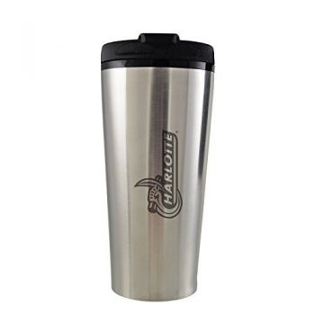 University of North Carolina at Charlotte -16 oz. Travel Mug Tumbler-Silver