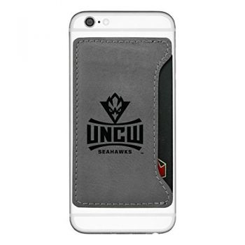 University of North Carolina Wilmington-Cell Phone Card Holder-Grey