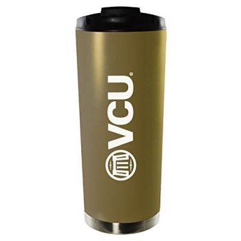 Virginia Commonwealth University-16oz. Stainless Steel Vacuum Insulated Travel Mug Tumbler-Gold