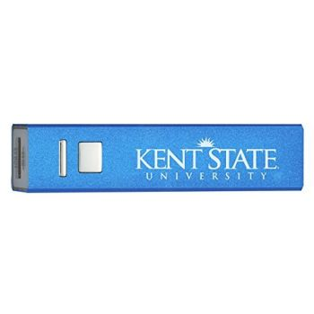 Kent State University - Portable Cell Phone 2600 mAh Power Bank Charger - Blue