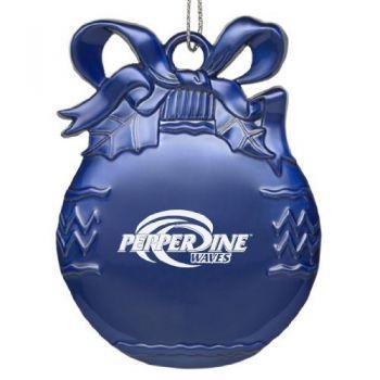 Pepperdine University - Pewter Christmas Tree Ornament - Blue