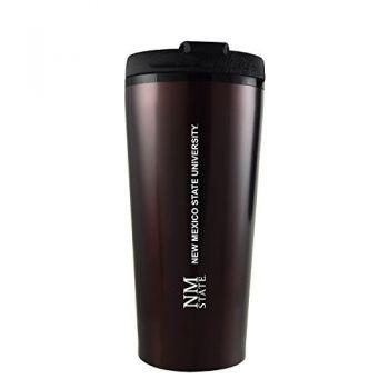 New Mexico State-16 oz. Travel Mug Tumbler-Burgundy