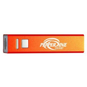 Pepperdine University - Portable Cell Phone 2600 mAh Power Bank Charger - Orange