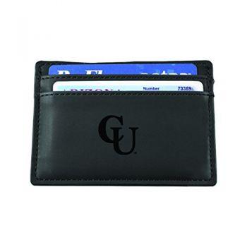 Campbell University-European Money Clip Wallet-Black